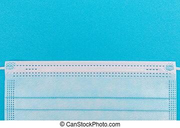 Medical Mask on Blue Background