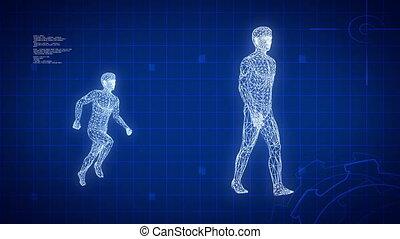 Blue medical science futuristic background
