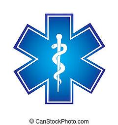 medical symbol - blue medical symbol isolated over white...