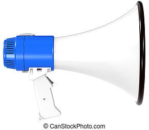 Blue Megaphone.