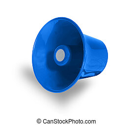 blue megaphone