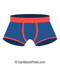 blue men swimming boxer icon