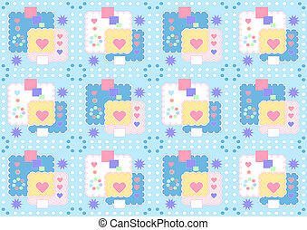 Blue merry background with stars an