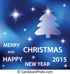 blue merry christmas