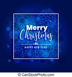 blue merry christmas snowflakes background beautiful design