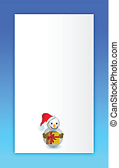 blue Merry christmas snowman