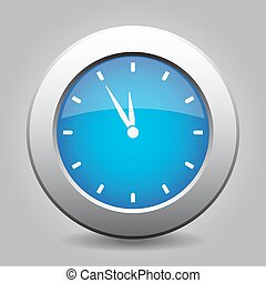 blue metal button - last minute clock