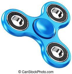 Blue metal fidget spinner