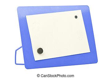 blue metal frame