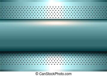 Blue metallic background 3D