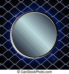 Blue metallic border over black