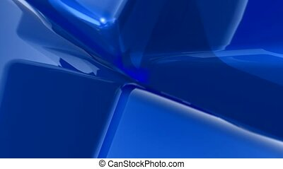 blue, metallic, corner