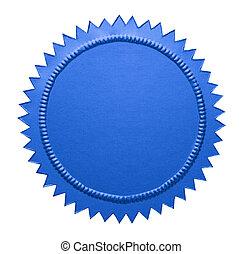 Blue Metallic Seal