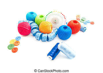 blue meter and other items for needlework