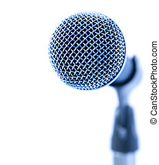 Blue Mic - Professional Microphone Over White Background