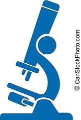 Blue microscope icon