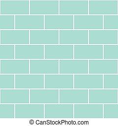 Blue Mint Brick Wall Seamless Background