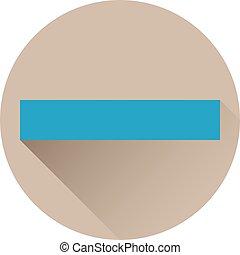 Blue minus icon