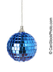 Blue mirror Christmas ball