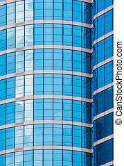 mirror glass building