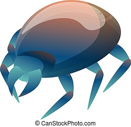 Blue mite icon. Cartoon of blue mite vector icon for web design isolated on white background