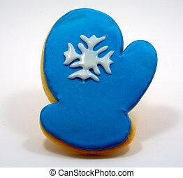 Blue mitten cookie
