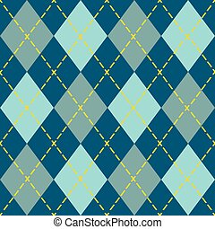 Blue modern and trendy argyle seamless pattern