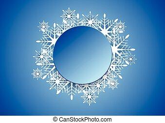 Blue modern Christmas snowflakes background