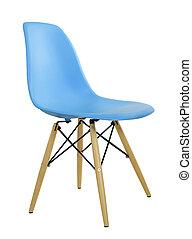 Blue modern plastic chair