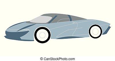 Blue modern supercar vector illustratio?n - Vector...