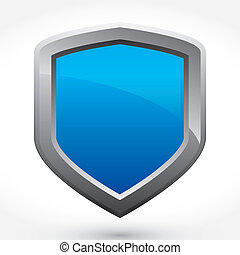 Blue Modern Vector Shield