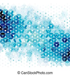 Blue Molecule Abstract Background.
