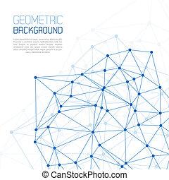 Blue Molecule And Communication Background vector illustration