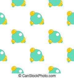 Blue molecule pattern flat