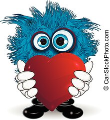 Blue Monster Keeps Heart