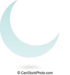 Blue Moon - Blue moon isolated on white