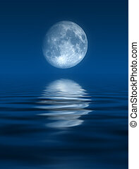Blue Moon - this image generated with computer