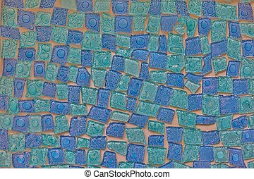 Blue mosaic abstract