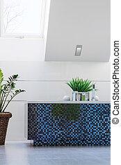 Blue mosaic bathtub