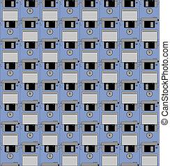 Blue mosaic disks