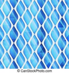 Blue mosaic seamless pattern.