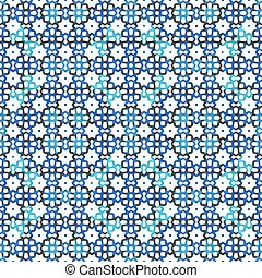 Blue mosaic soft pattern