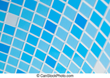 blue mosaic tile background