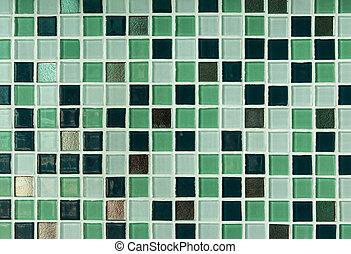 Blue mosaic tile seamless