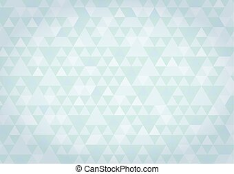 Blue mosaic triangles pattern textured blue background