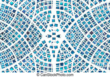 Blue Mosaic wall