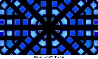 blue mosaics block disco pattern