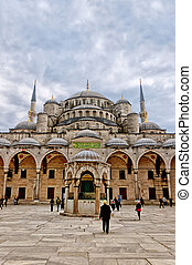 Blue Mosque 05 - A view of the blue mosque in the turkish...
