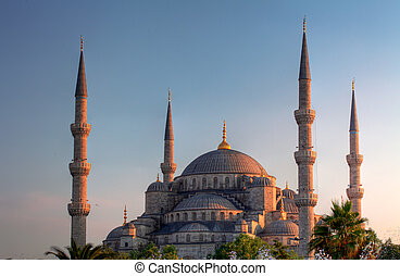 Blue Mosque, art masterpiece of Istanbul, Turkey.