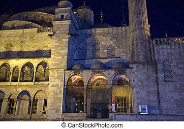 Blue mosque in Istanbul. Night scene